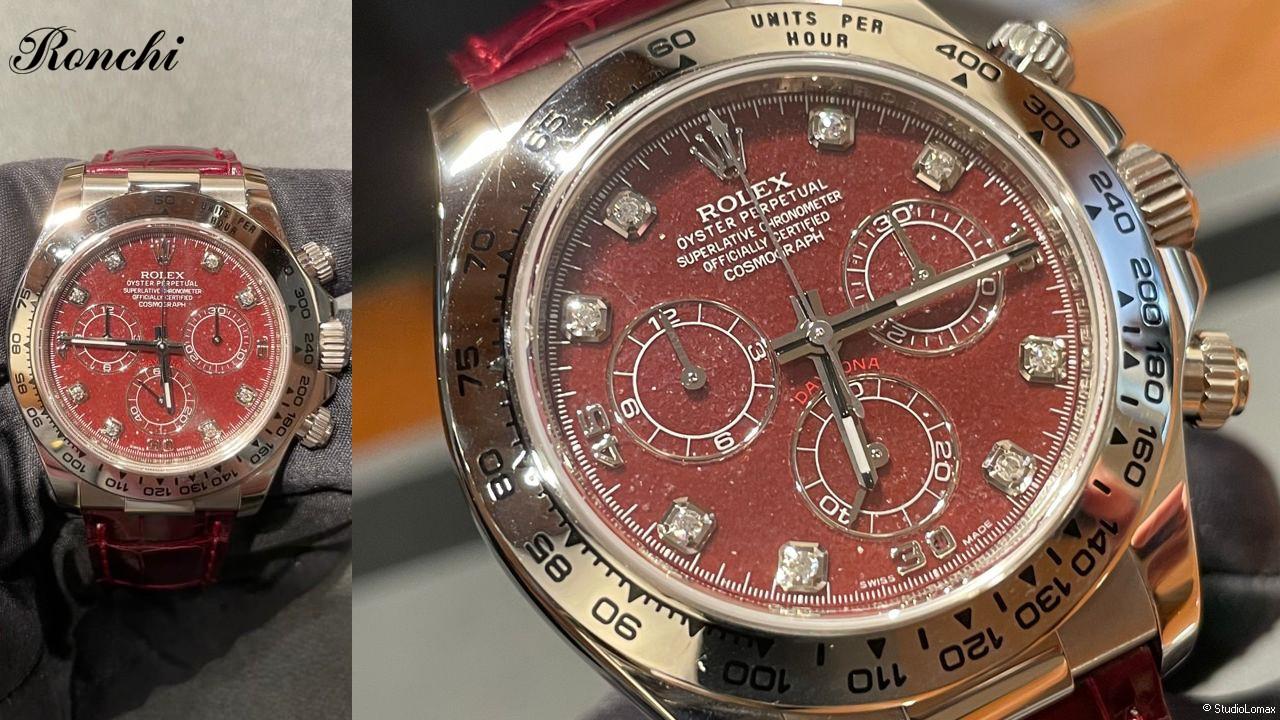 Orologio Rolex Daytona oro bianco Ref. 116519 quadrante Grossularia, anno 2012